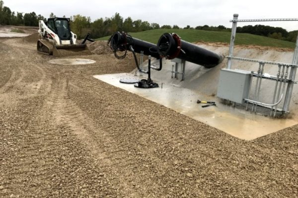 Typical Leachate Cleanout Riser Pad Construction